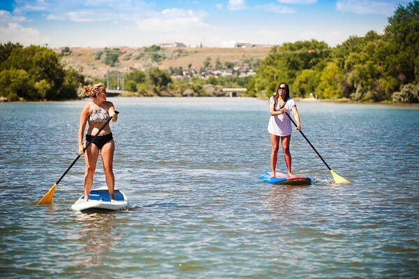 Yep, it's time. 😎🏄🏽‍♀️☀️ — Have you gone paddle boarding on the Mo yet? No? Well, you're in luck! @bighornwild will be at #BaseCamp to educate you on the ins and outs of this fun summer activity and the rental service they provide. Additionally, you will have a chance to WIN a paddle board generously donated by @scheelssports!! — We can't wait to see you all this Saturday!! We have been overwhelmed by the response to our event and the support this community has shown us. Without our amazing team and incredible sponsors, none of this would be possible. Thank you Great Falls ❤️ — PC: @visitgreatfalls #DiscoverGreatFalls #basecampgreatfalls #basecampgf #local #community #greatfalls #Montana #livegreatfalls #choosegreatfalls #shopgreatfalls #playgreatfalls #visitgreatfalls #lovegreatfalls