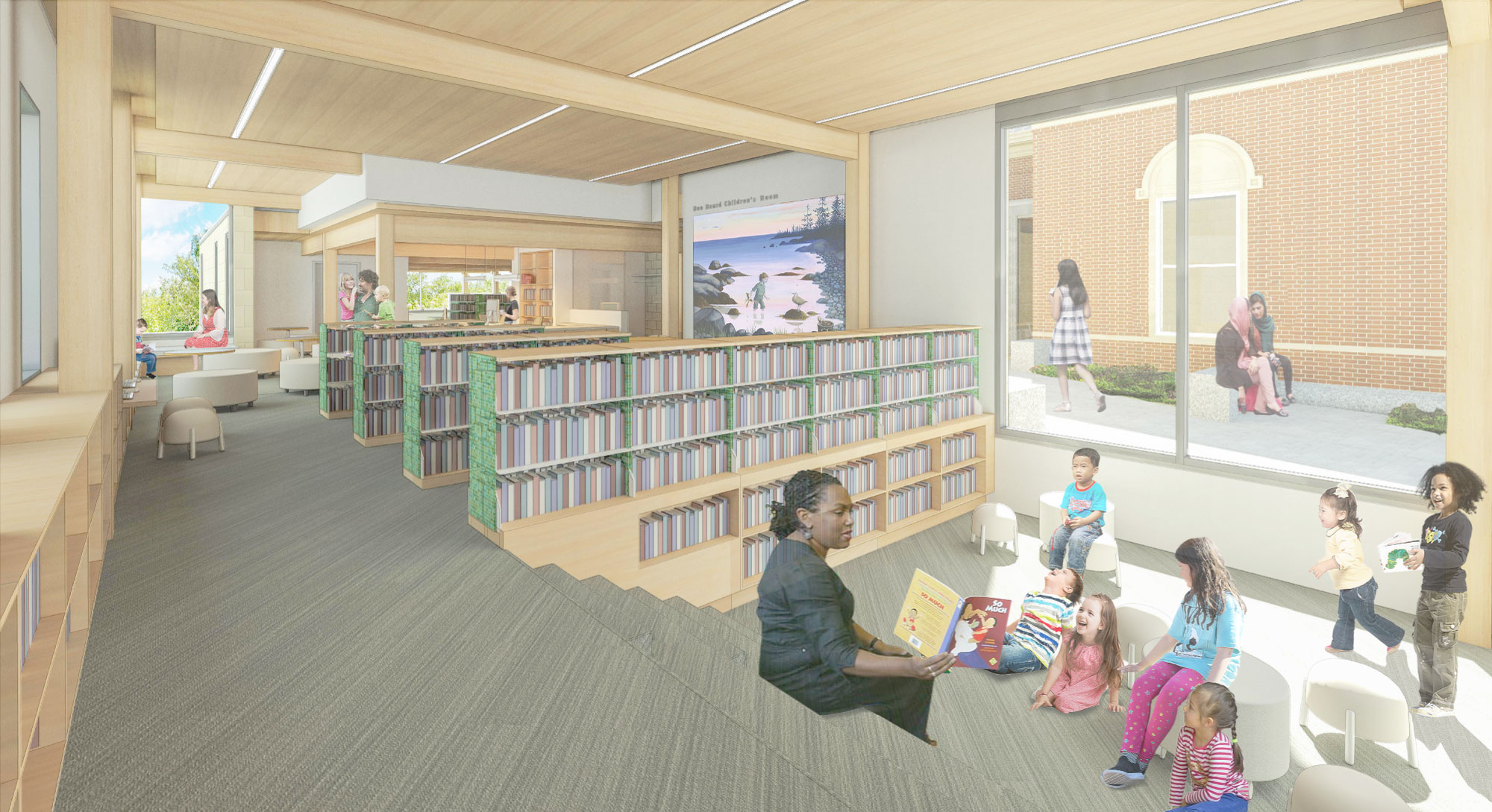 Artist's rendering of the new Children's Storytime Area