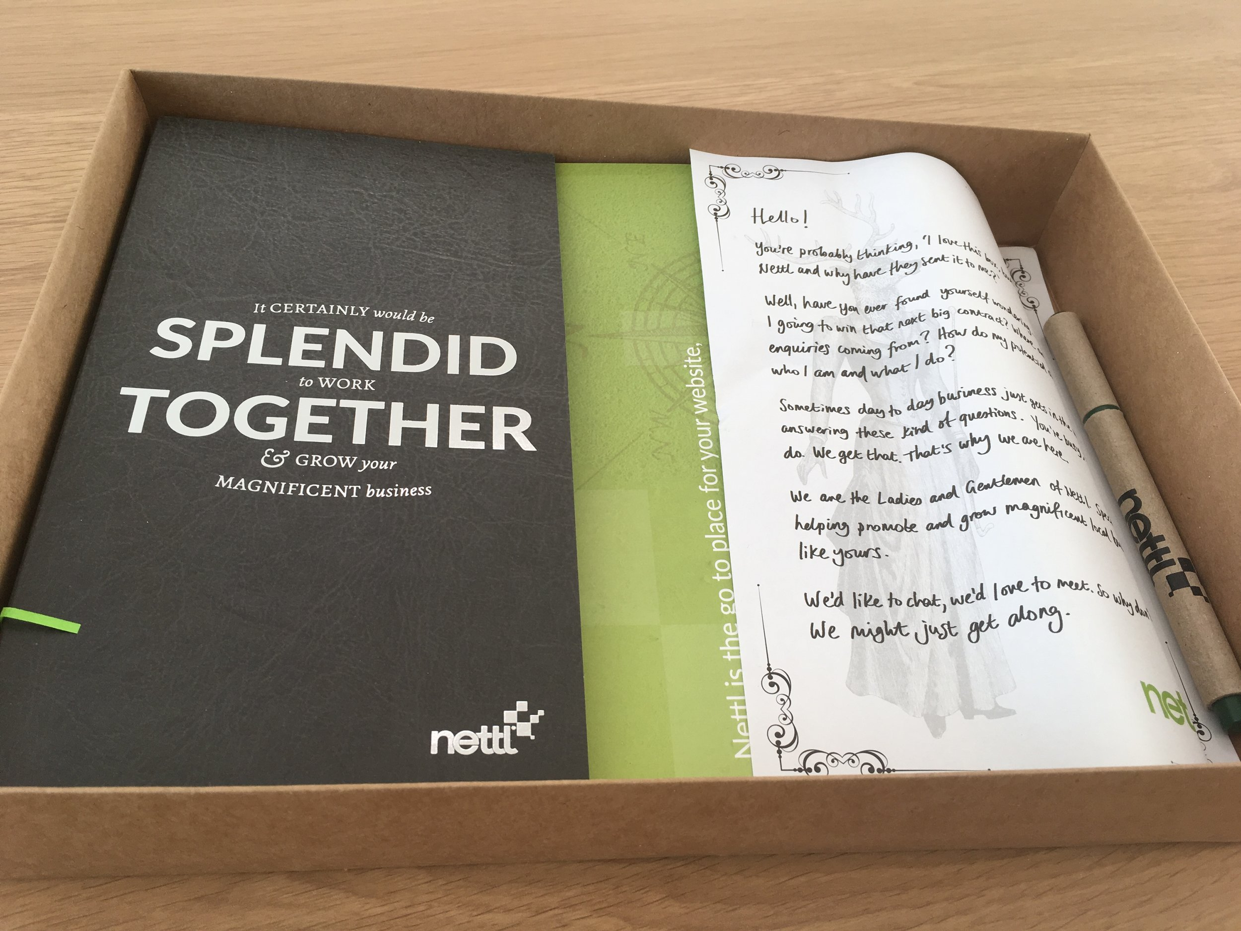 nettl definitely won the award for most beautiful, & personable, goodie-box.
