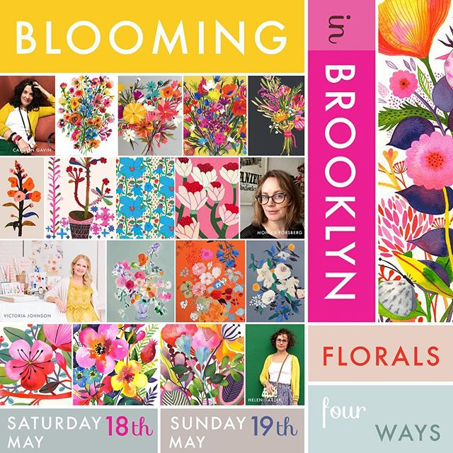 Super Exciting News! ☀️to share with you today! I will be hosting a floral workshop in Brooklyn with three of the most amazing artists @carolynj  @monika_forsberg & @victoriajohnsondesign ! Come join us for an intimate full day of painting flowers in a sun lit spacious Brooklyn studio on May 18th or A19th! www.helendardik.com/bloominginbrooklyn/ or DM me your e-mail for more information. #paintingworkshop #brooklynworkshop #flowerworkshop