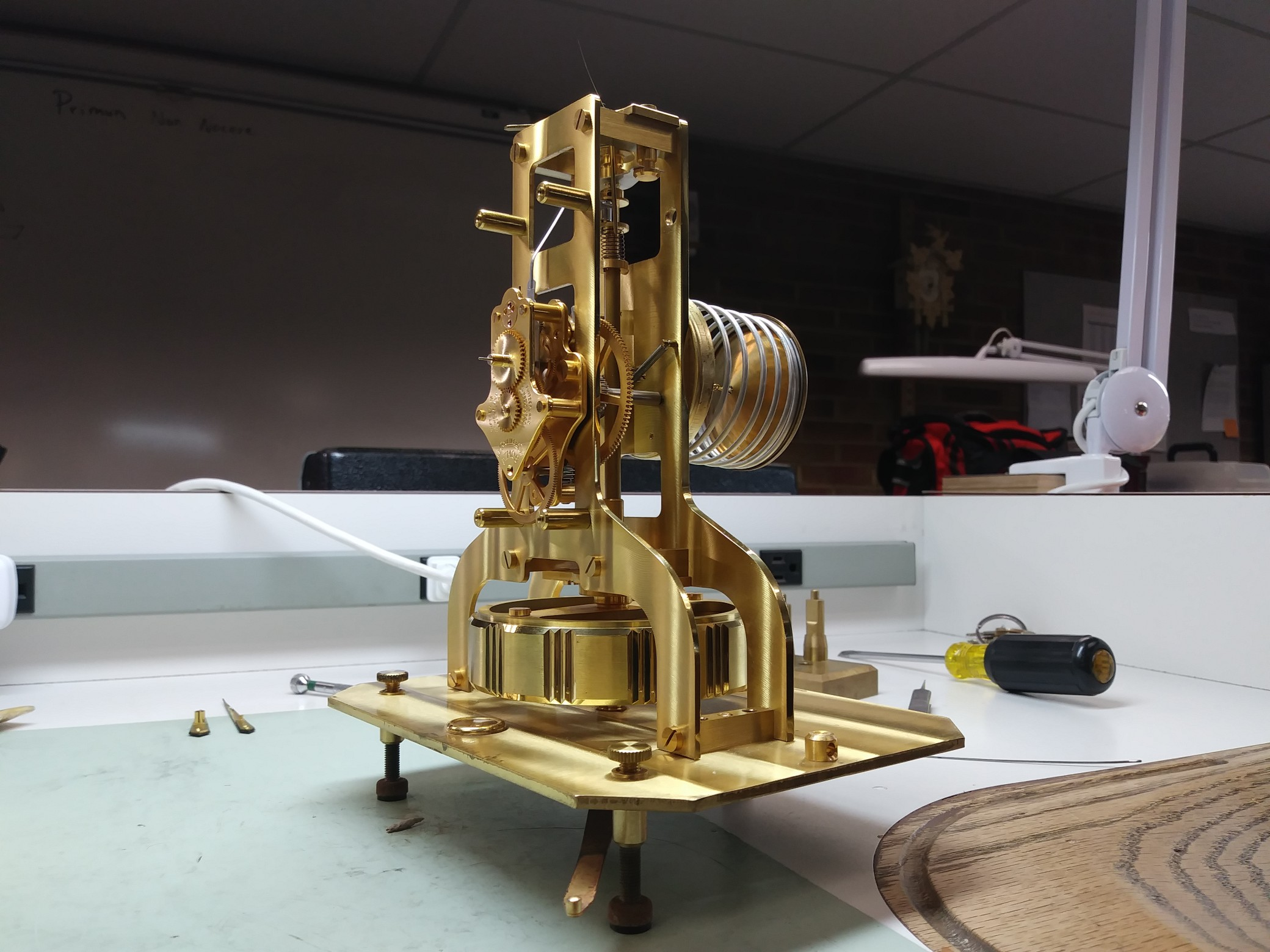 The Raw Movement Of An Atmos Clock