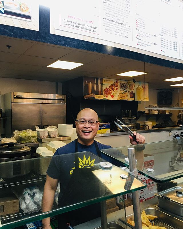 """Leaving corporate life, you will have longer hours, less pay, no benefits. However being your own boss, I would not trade that for anything "" -Trung Pham from Pham's Rice Bowl  Come visit Trung Pham at the Midtown Global Market. His business is called Pham's Rice Bowl.  #minneapolis #stpaul #twincities #midtownglobal #market #publicmarket #midtown #minnesota #mn #midwest #culture #diversity #stories #entrepreneurs #smallbusinesses #shoplocal #smallbiz #friendofglobalmarket"