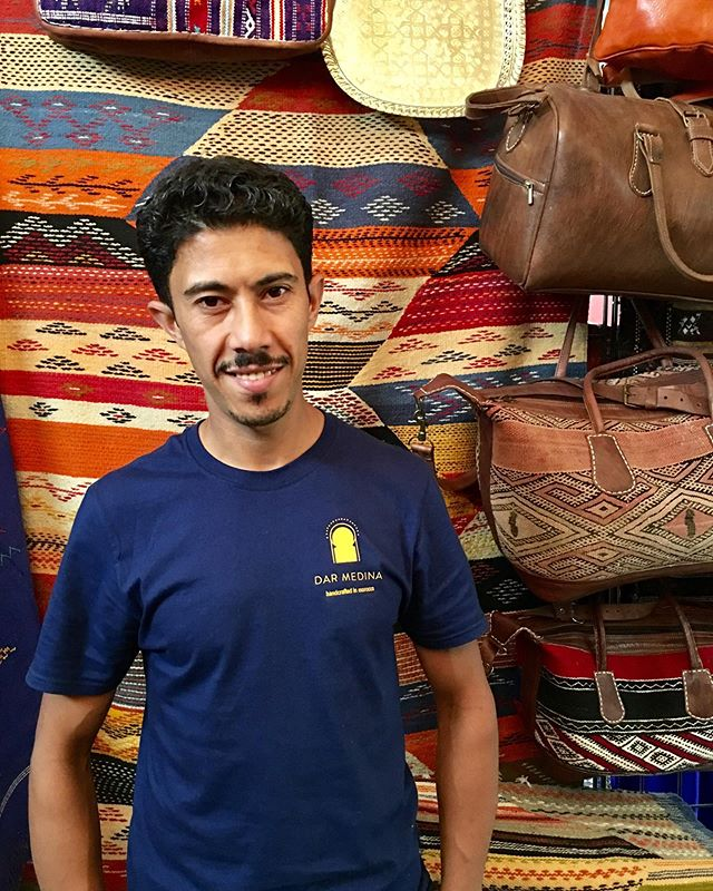 """I used to run a similar business in Morocco. I came to the United States in late 2011. I started selling goods from Morocco in 2016 at the Midtown Global Market. I buy my products from families that I know in Morocco and I work with over 10 families. I am very proud to be a small business owner and support the families that help make these goods for me. I had my own business in Morroco for many years but I'm happy to reopen in this great country."" -Mostafa Khchich, Owner of Dar Medina  Come visit Mostafa at Dar Medina inside the Midtown Global Market. @darmedina  #minneapolis #stpaul #twincities #midtownglobal #market #publicmarket #midtown #minnesota #mn #midwest #culture #diversity #stories #entrepreneurs #smallbusinesses #shoplocal #smallbiz #friendofglobalmarket  #morroco #shoplocal"