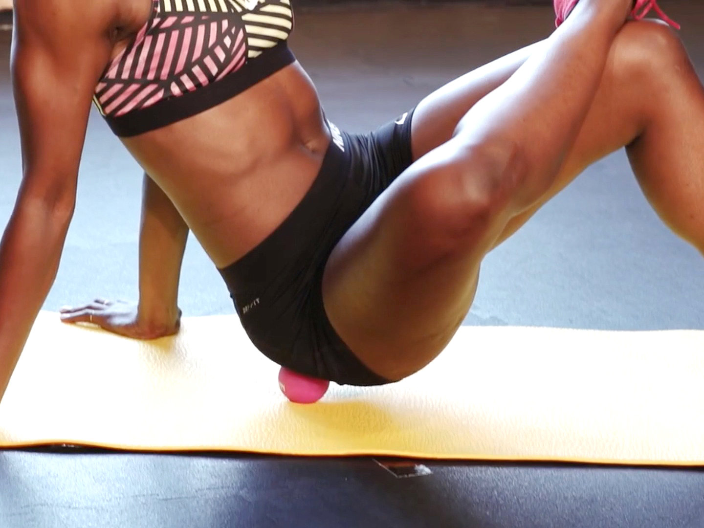 """Lacrosse Ball - No matter what workout you do, it's always important to stretch out after. For especially tight muscle areas, Cynthia uses a lacrosse ball to help """"roll out muscle kinks… especially from twisting and turning in the car to hand my toddlers snacks"""""""