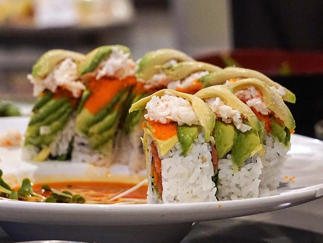 """Agua Chiles Sushi - Just off of Reseda, Agua Chiles Sushi Bar is a """"fusion of fresh Japanese cuisine and Latin zest."""" From sushi to tempura, the menu has something for everyone. Some of the menu favorites are the garlic edamame and the aguachiles roll. If you're a fan of sushi, make sure to stop by!"""