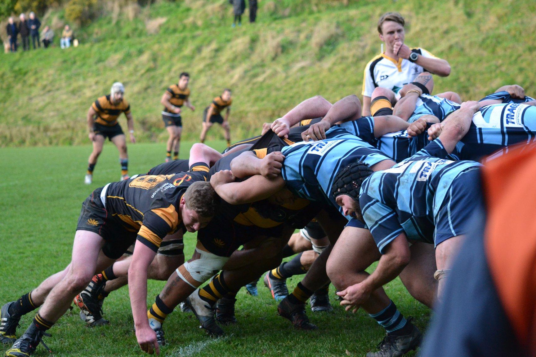 Johnsonville v Wellington at Helston Park, with the Axemen winning 53-15. Photo: Wellington Football Club - Axemen