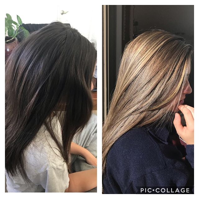 This brunette wanted to try a sandy brown/blonde.  Brittany did an amazing job!  Call 303-333-3750 at @poshthesalondenver to book with Brittany!  20% OFF ANY SERVICE WITH BRITTANY 🎉🎊🎉🎊👌🏻🎊#balayage #beforeandafter #brilliant #olaplex #redken #blondehair #beachhair #oribeobsessed #kerastase #kerastasesoleil