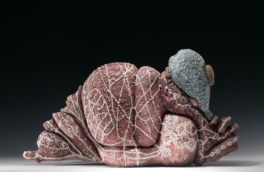 "Morocco    Ceramic, sequins  29""w.x 14"" h. x8""d.  $3500"