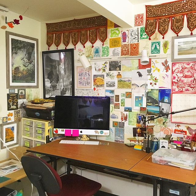 I told myself after my ceiling repair was over, I wouldn't cover my studio with art again because it honestly was too scary to think about the chance of another flood from above. Alas, I just can't work if I'm not surrounded by art, and I need to face my fears. Everything is finally back in its proper place throughout my entire apartment, and I finally feel like I can focus again. I can't work as well surrounded by disarray, and I've had to push past that during the last 5 weeks, the busiest of my year.  I was so happy to see so many people at Ann Arbor this past weekend, despite Mother Earth playing many tricks. I'm now looking forward to my next show, my first time at the Sutton's Bay Art Fair! This is going to be a nostalgic one, which I'll be posting about in the next week or so 😭 I can't wait to get back to work tomorrow officially, at my magical desk ✨✨✨