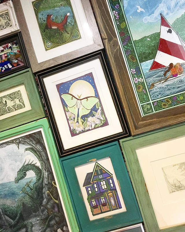 The count down to Sutton's Bay begins! Here are some pieces I framed before driving up north today, each one has some green in it! 💚 The Art Fair is this weekend August 3-4 down by the Sutton's Bay Marina!