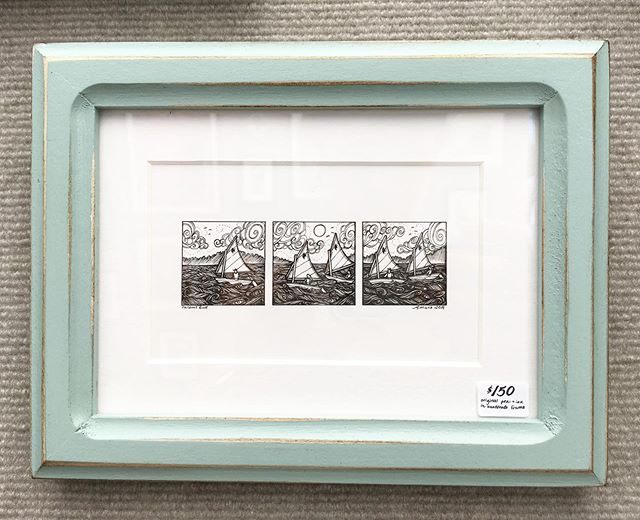 New tiny original trio, Sailboat Race! I've been watching the sailboats all weekend here in Sutton's Bay, and it's been lovely ✨⛵️⛵️⛵️