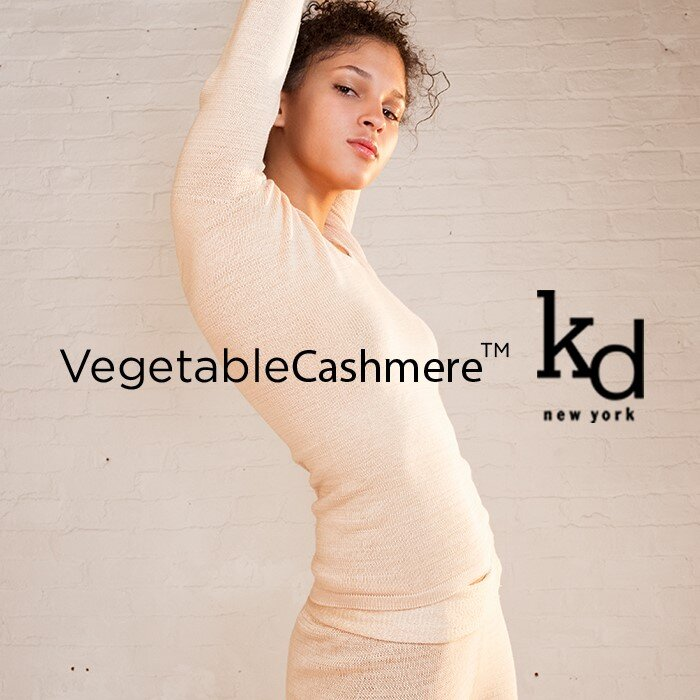 """KD   Organic and biodegradable Vegetable Cashmere™ created by KD.  """"Vegetable Cashmere™ is the future of Luxury material"""""""