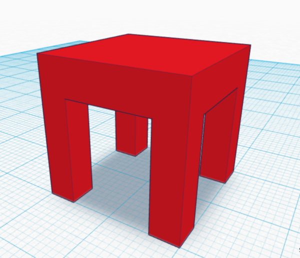Tinkercad Table 1