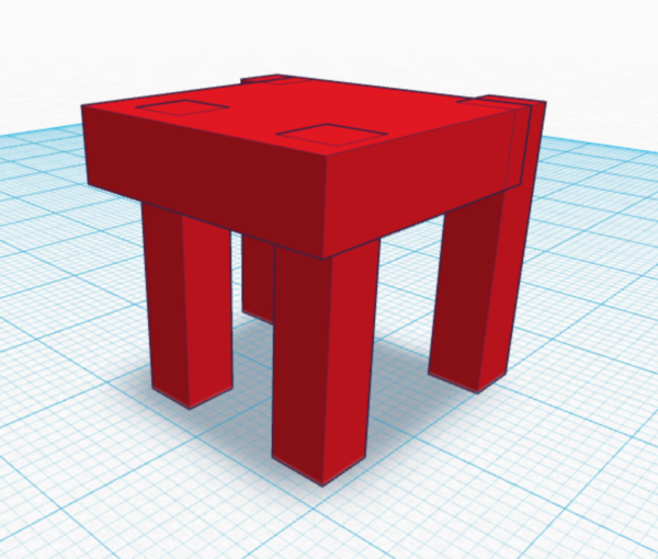 Tinkercad Table 2