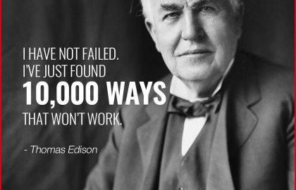 Thomas Edison — an eternal optimist!