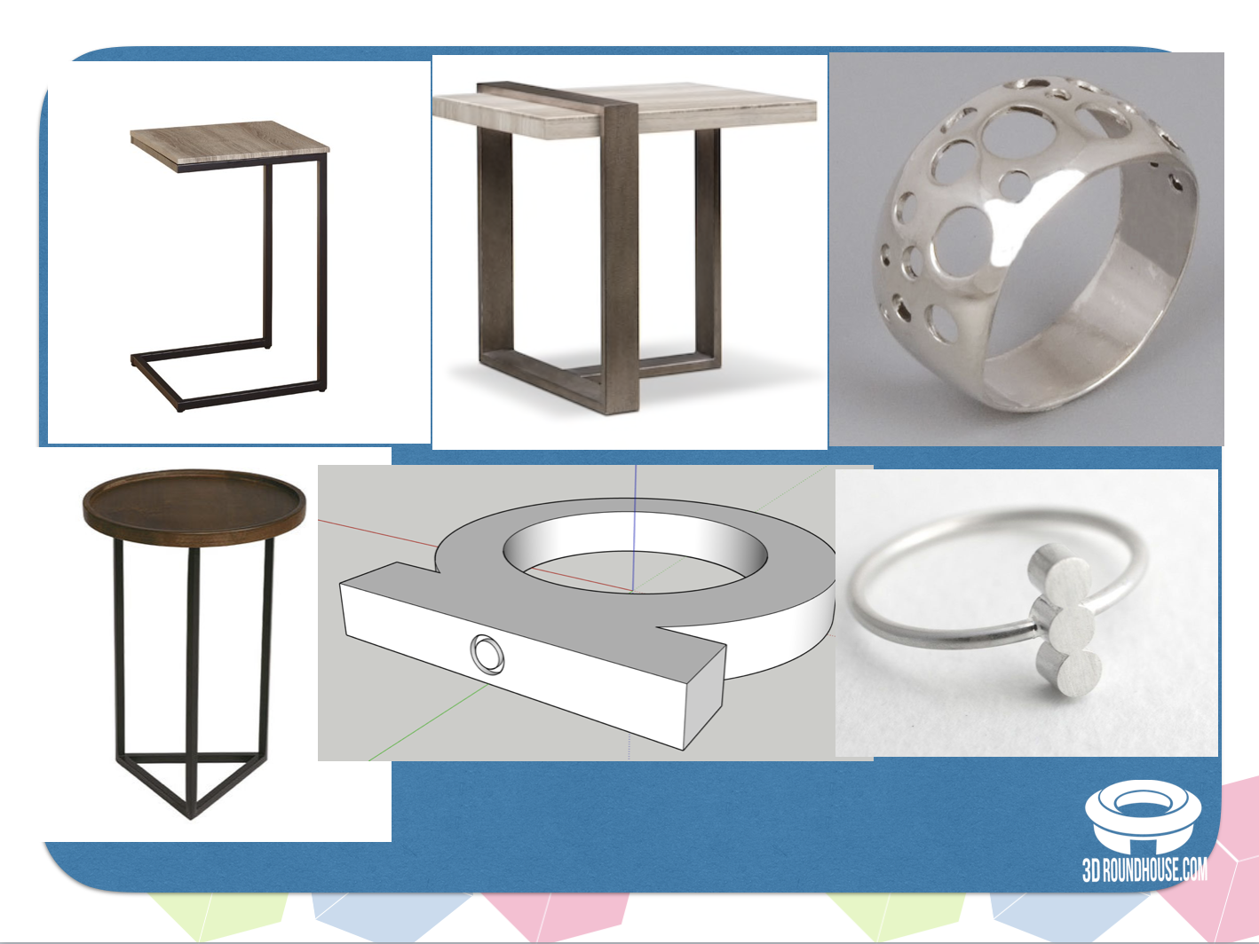 Can you 3D model these objects?