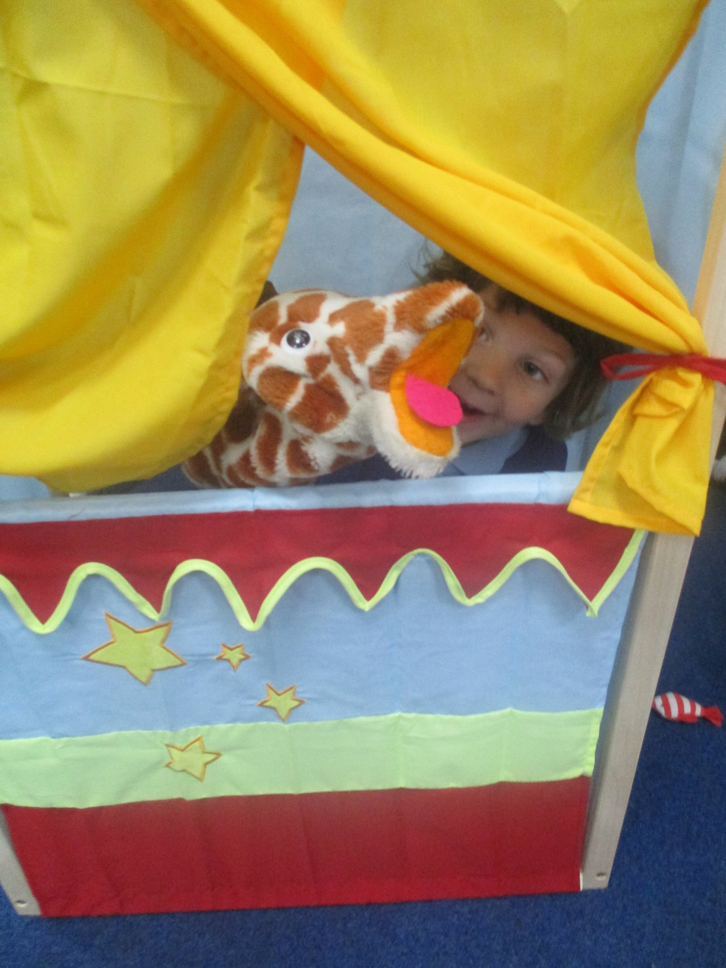 Our fundraising paid for… - a new puppet theatre for nursery and reception.