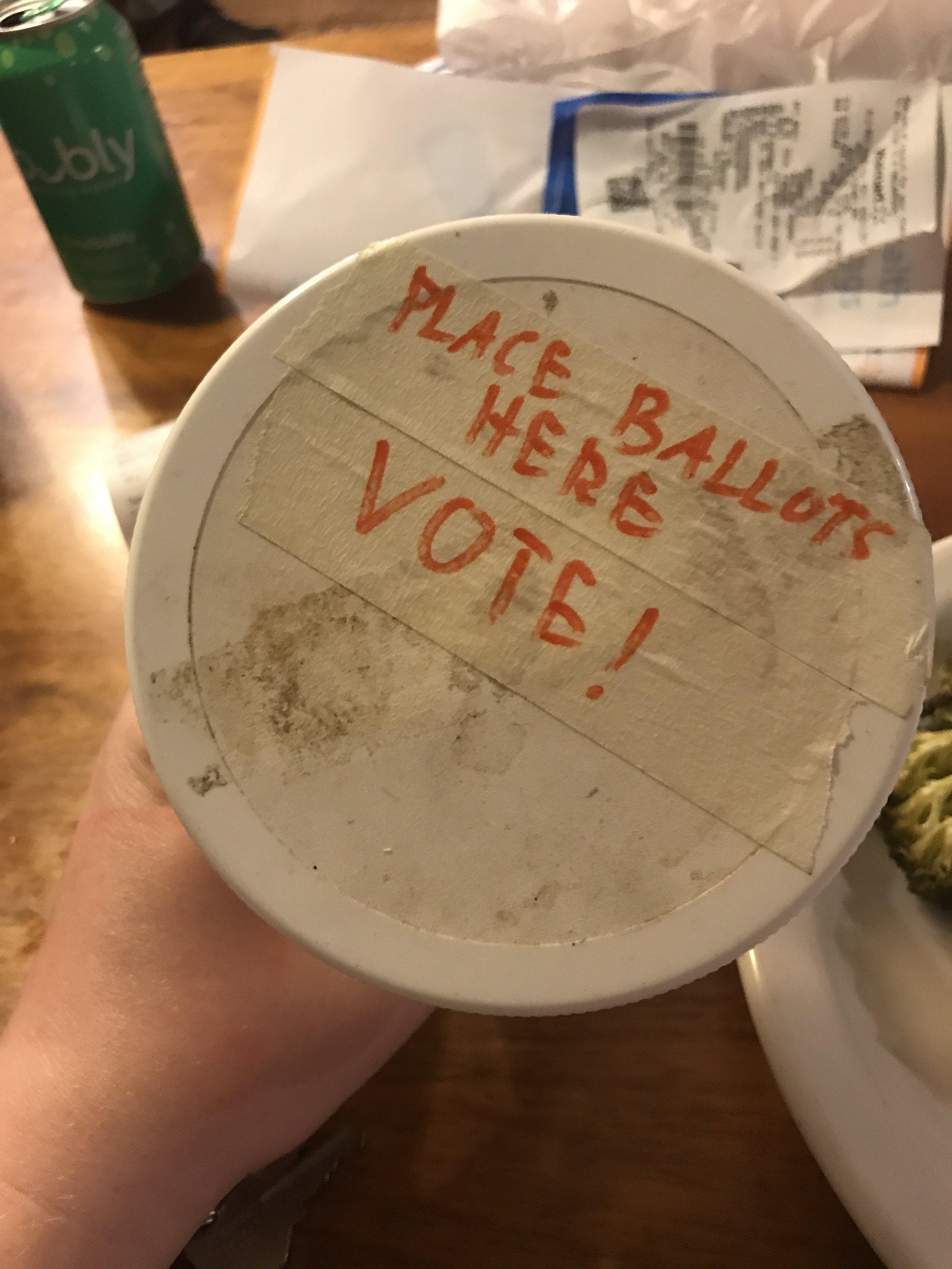 sasona vote jar