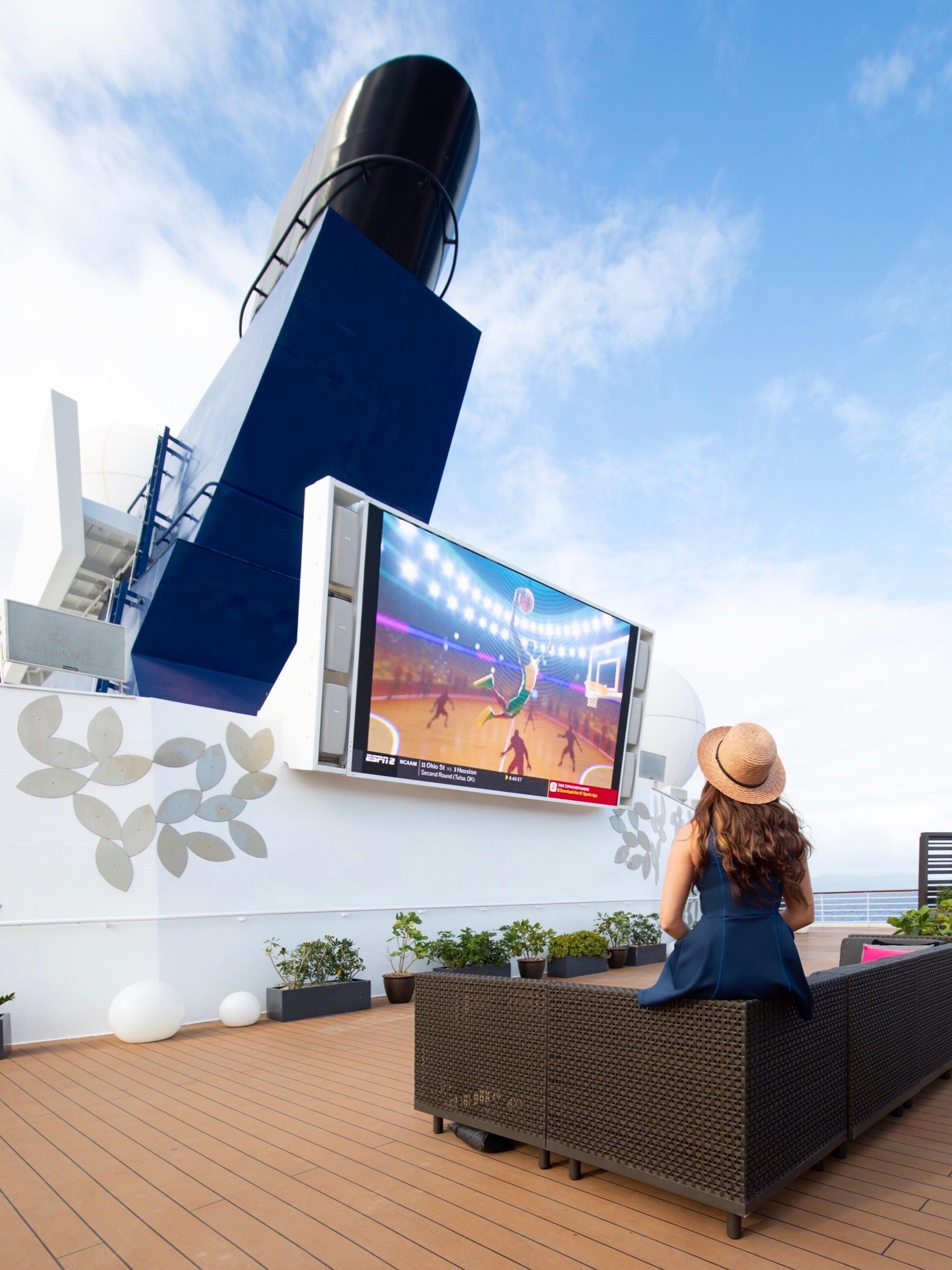 celebrity summit: deck 12 outdoor cinema