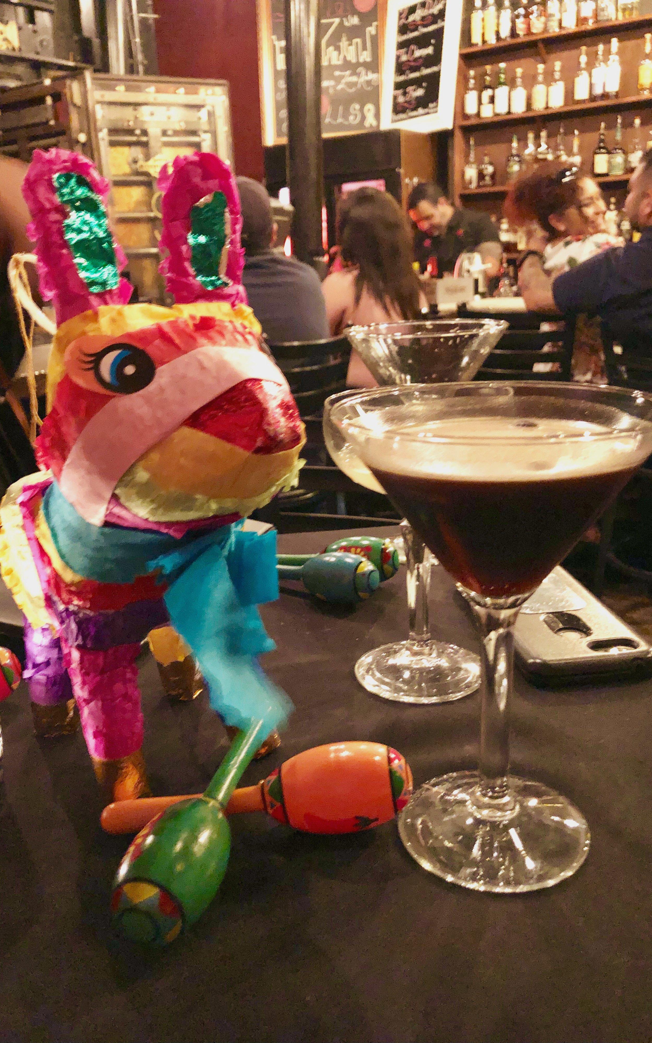 my friend and i celebrating cinco de mayo at SoHo Wine & Martini Bar