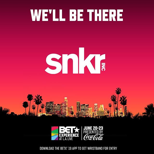 Come see us at the @betexperience #kicksperience this Friday and Saturday (June 21-22)!! •Come check out @snkrinc's @theartofsneakers booth. You can enter for a chance to win a pair of custom shoes painted by none other than @alecdemarco. See works from the likes of @therealchristophe, @toygami, @cole, @kickstradomis, and @mimiyoon. #betx #kicksperience @cutandsew.la