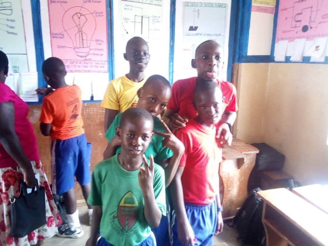 Amagezi Project  A few of our kids in school on visiting day