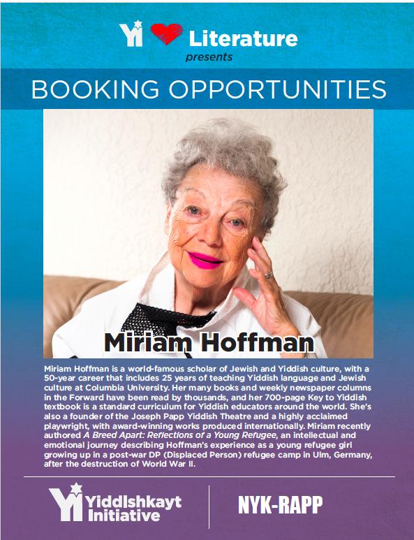 Miriam Hoffman Booking Sheet