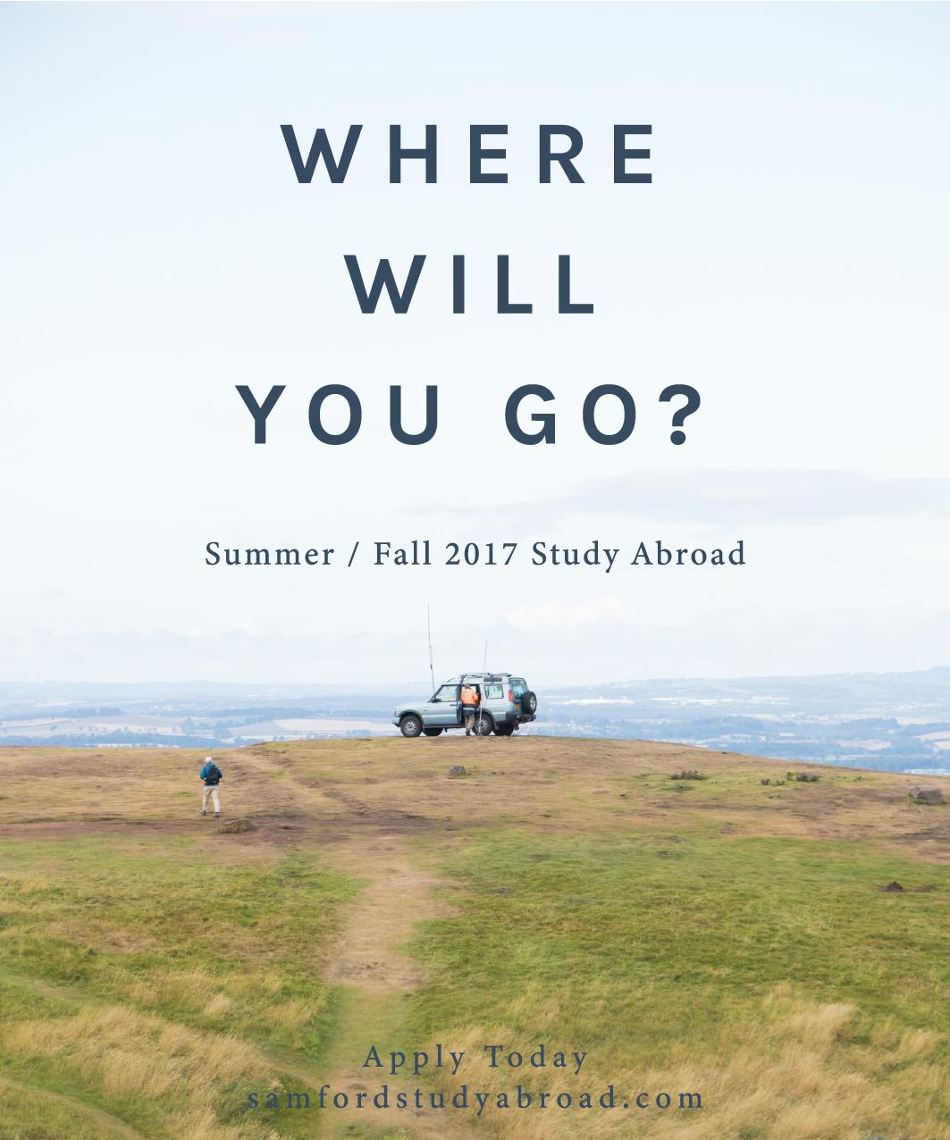 Study Abroad Print Advertisement