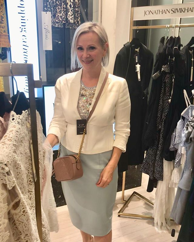 Checking out the latest designs at City Myer, I am told they have 100 new brands. Wow! Impressive. So good to meet the buyers and chatting to some delightful shoppers with a penchant for designer shoes. 👠👗👡 I confess I was tempted too and could not resist. #gucci #myer #fashion #pencilskirt #pastelfashion #pearltop #pearlfashion #pearls #sequins #instafashion #instagood #keto #over50style ##fashionover50 #styleover50 #fitat50 #personalstylist #personalfashion #ootd #fashionstylist #lawyer #fashionconsultant #instastyle #style #europeanstyle #melbourne