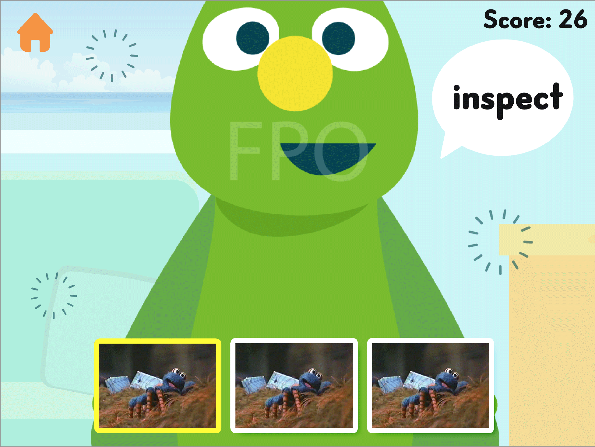The monster guides each child through a series of personalized activities to help them learn more vocabulary words.