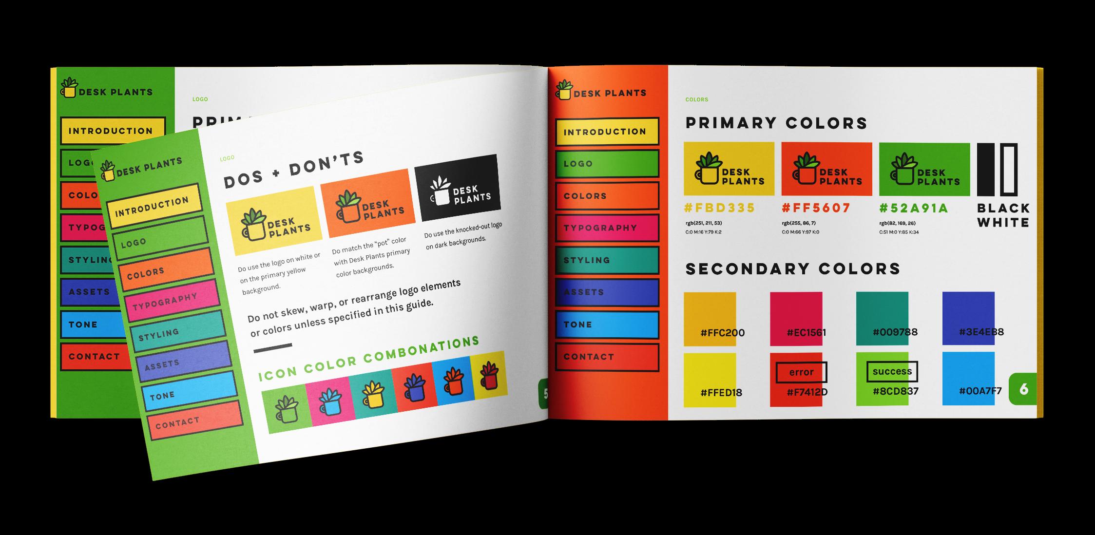 A full brand guideline book