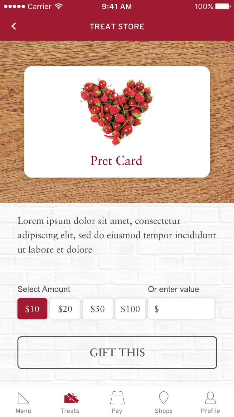UX and final gift card picker ui (instead of Pret's suggested amount slider)