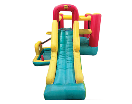 Want to make weekend play dates fun for your kids ?Get a bouncy castle and other inflatable toys for toddlers in Singapore from active interactions.   Size:L304 X B274 X H213cm