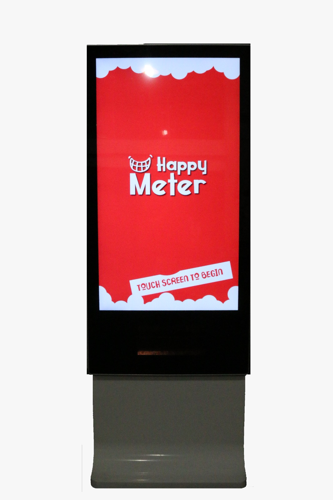 Measure your smile.The bigger your smile, the higher score you will get.Experimental Marketing.