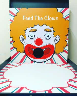 Shoot the Clown with enough food to fill his stomach! Do your best to make his stomach full and win prizes