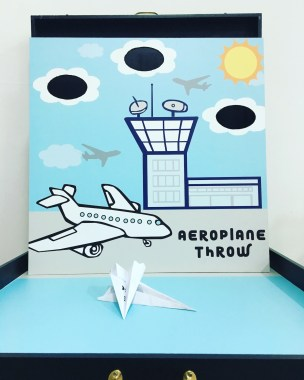 Test your aeroplane throwing skills as well as your paper plane making skills and see how well your paper plane does in this carnival game!