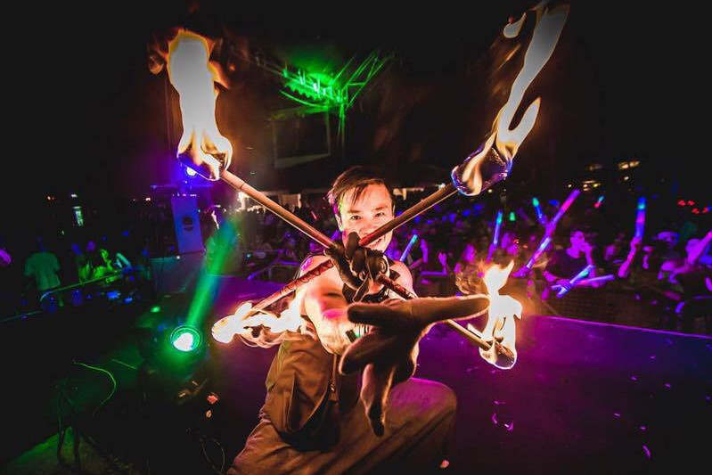 Fire dancing show and be able to participate in the dance