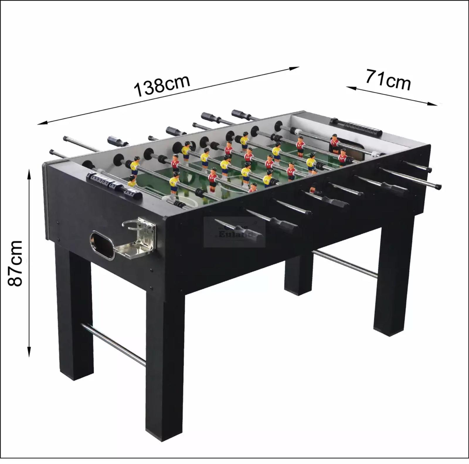 Fooseball for some competitive fun! Put yourself against your friends and try to beat them by outscoring them.