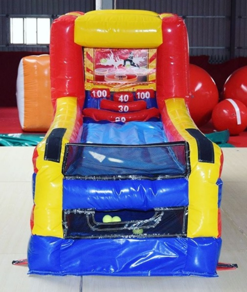 Score the highest points in this inflatable version of the ball toss