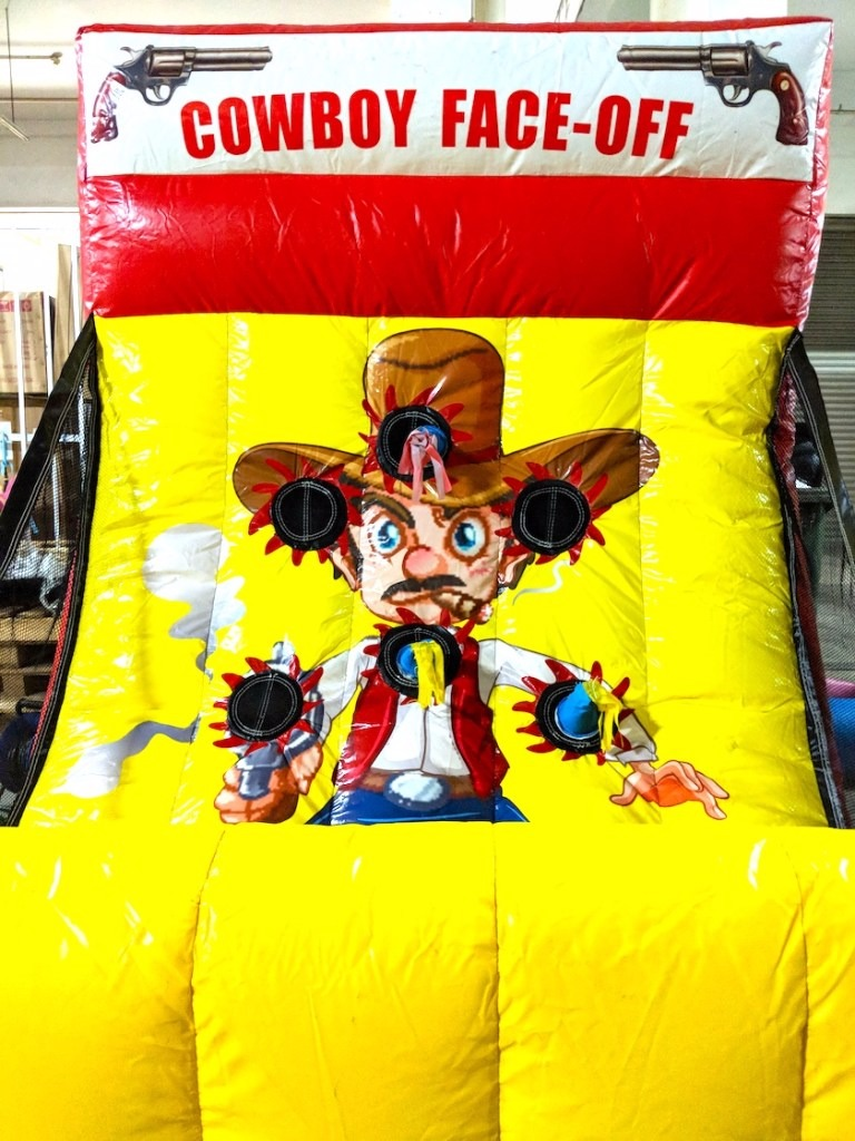 Go against the man of the wild wild west in this cowboy face-off