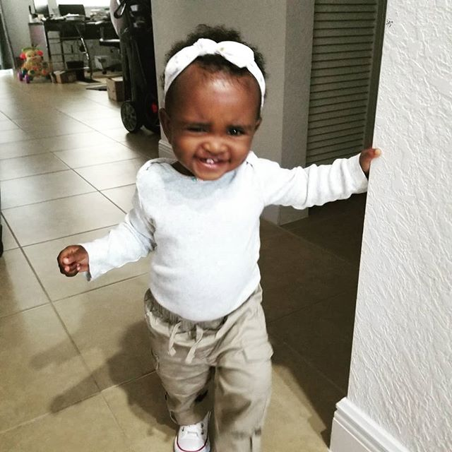 First day of Toddler's class 😍😍😍😍😍 My heart ain't beating normal today 😘😘😘 #luna #backtoschool #babygirl #blackmagic #babysmile #mylight #prouddad