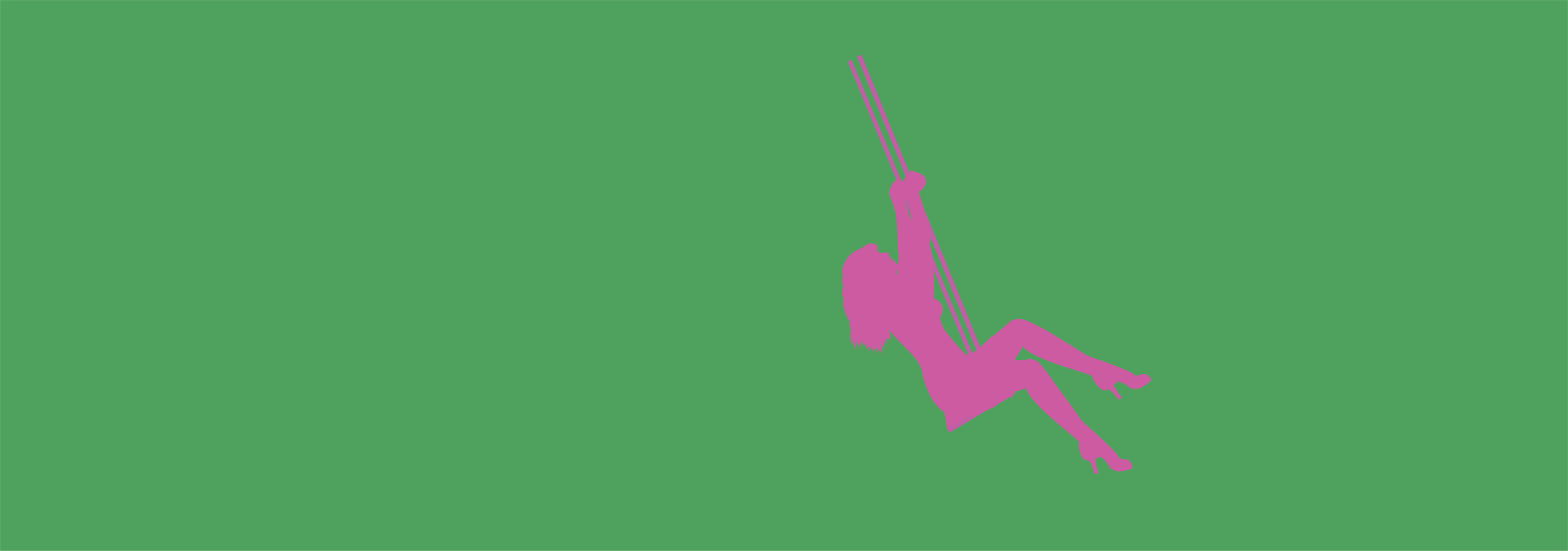 Lady in pink with green background.png