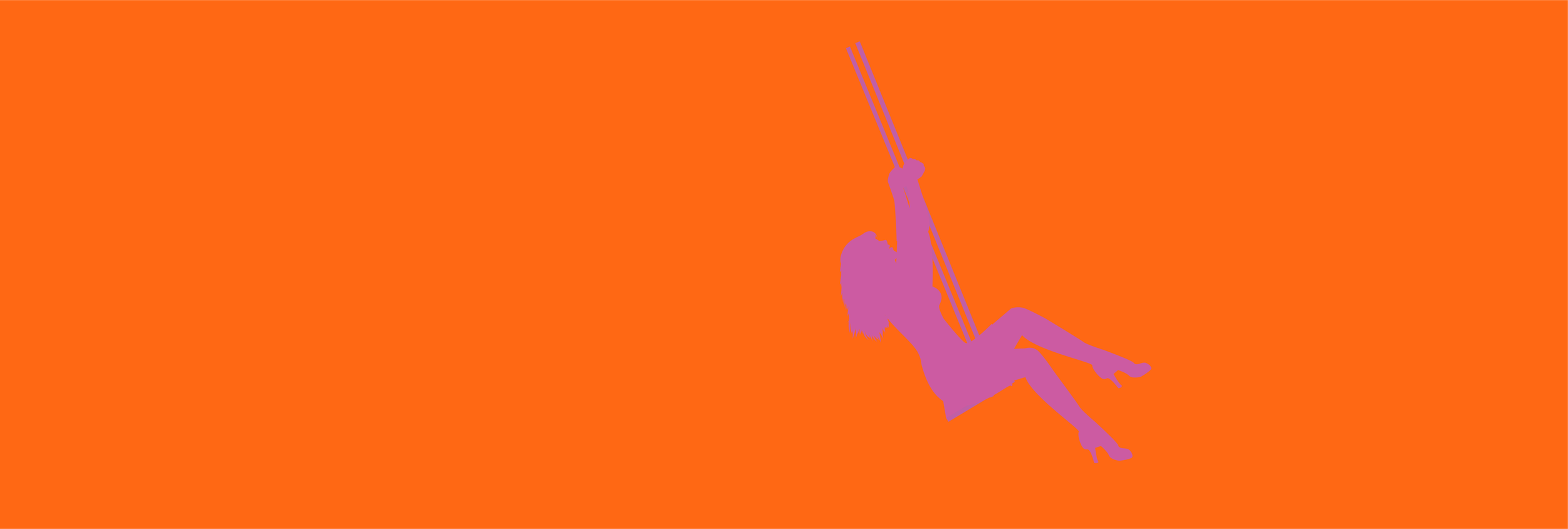 Lady in pink with orange background.png