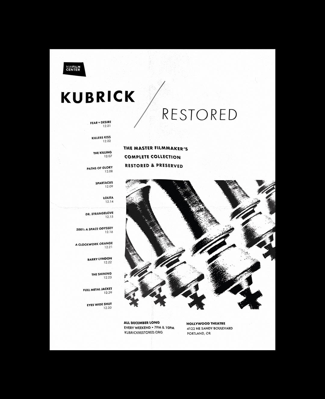 Kubrick / Restored (Festival Poster)