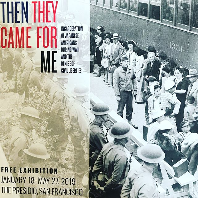 """""""Then They Came for Me: Incarceration of Japanese Americans during WWII and the Demise of Civil Liberties""""features photography by Dorothea Lange, Clem Albers, Ansel Adams, and other photographers commissioned by the War Relocation Authority. It also presents art produced in the camps by Toyo Miyatake, Mine Okubo, and others, as well as documentary and video artifacts from incarcerees. It traces the history of anti-Japanese sentiment, Executive Order 9066, the camps, and postwar resettlement. It is sponsored by the Jonathan Logan Family Foundation.  DATE: January 18 - May 27, 2019 TIME: Visiting hours Wednesday - Sunday, 10am - 6pm LOCATION: 100 Montgomery St. in The Presidio, San Francisco  @futureswithoutviolence @thentheycameforme"""
