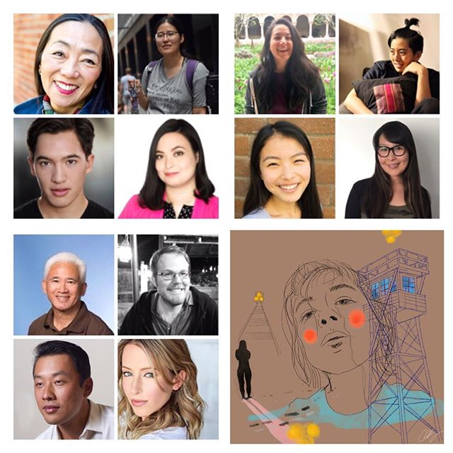 Come see these incredibly talented actors perform in a FREE live reading of screenplay Starshine and Clay on Saturday, August 24th, 7pm, in Moraga Hall at the Presidio Officers' Club in SF. RSVP for tickets: Link in bio. * Row 1: Keiko Shimosato Carreiro, Anne Watanabe, Hana Kadoyama, and JJ Uenten. Row 2: James Aaron Oh, Sara Matsui-Colby, Ruri Kodama, and Juliet Evens. Row 3: Larry Kitagawa and Stuart Bousel. Row 4: Ryan Takemiya and Alexis Boozer Sterling. * STARSHINE AND CLAY is a story spanning 75 years about a Japanese American family's struggles with identity, love, and intergenerational trauma, from WWII to present day. * Presented in conjunction with @thentheycameforme * Illustration by Alessandra Hisako Gordon @alessandwich * #thentheycameforme #japaneseamerican #starshineandclay #americanzoetrope #hapa #sansei #nikkei  #liveread #screenwriter #artistresidencyinmotherhood  #jonathanloganfamilyfoundation #futureswithoutviolence #jsei #stanfordalum #nationaljapaneseamericanhistorysociety #njahs #revadafoundation #mtykl #minamitamakiyamauchikwokleefoundation #dfocreates #smithies