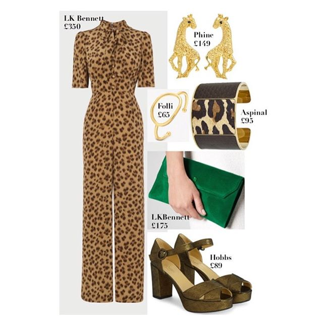 Wedding//Event outfits, Beyond one day wearing💫 So, I think your wardrobe should work for you, be adaptable & interchangeable. Your occasion wear should work hard & if you buy right, with yourself, your body shape & your existing wardrobe in mind, you should be able to get #30wears and then some. Above are some examples of 4 outfits, with one casual/day alternative option. A few notes on the above....... 1: the polo neck is to be worn under the leopard jumpsuit.  2: This pink Hobbs suit, is not in store yet. 3: I discovered @irisandals earrings after a great post, from @victoriagenevievestyling so thank her for that, great intro. 4: I KNOW those Chanel vintage glasses are an insane price! But I couldn't resist including them. Remember, these posts are meant to inspire, make it your own. The idea I wanted to get across was a cool, white rimmed shade- that tied in with the bag. By the way, the bag, sunglasses & bracelet are all from @openforvintage its a TREASURE trove of delights. Really sensational vintage finds, so pleased to have found it. Finally the @prettydresshq palm print dress has pockets, is currently in the sale at £59, amazing quality & sizes up to 18 & comes in different colours. 💋.
