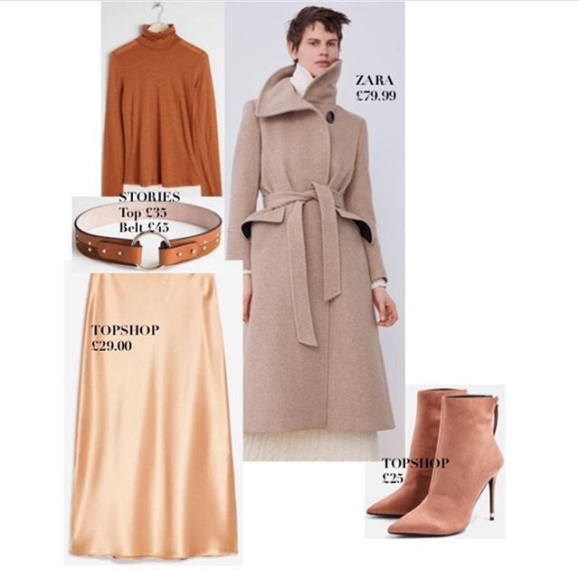 •Beige•Nude•Neutral• •Stone•Caramel I could go on, my point? Beige is no longer synonymous with Boring. Which is good, because you will see it all over the high street for Spring. Instead of washed out, sick bed beige- think rich, multi hued, tonal deliciousness, that you can mix with burnt orange, dusky pinks, golds & mossy green's. Be bold, lean in, and wear head to toe. You are guaranteed a luxe result, even if the spend has been light on your wallet. I've put together some varied looks, to work across multiple occasions, all work for now, with small tweaks for warmer weather. I loved doing this one, hope you like.💋.