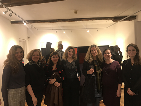 seam members at the opening night of 'Extremely Textiles'