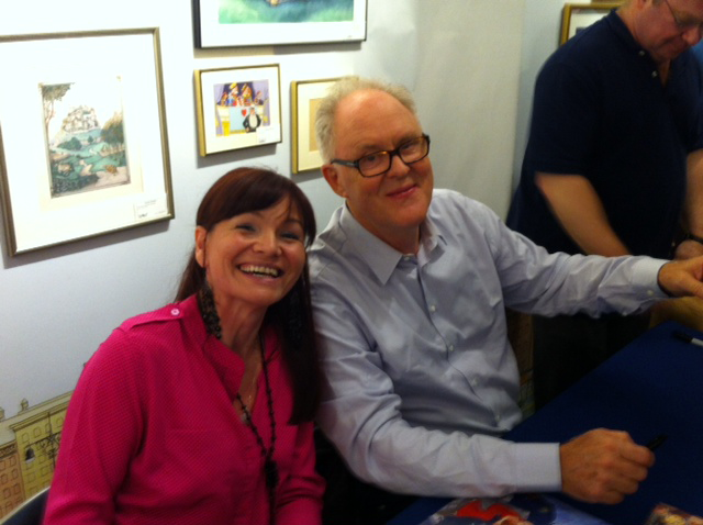 Speed signing inside  Books of Wonder  on launch day with the fab help of Peter Glassman!